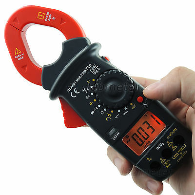 Digital Clamp Meter AC/DC Volt Resistance Capacitance Continuity & Diode Tester