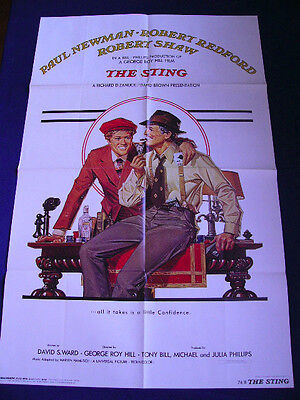 1974 THE STING Robert Redford Paul Newman Japan VINTAGE POSTER 21x33