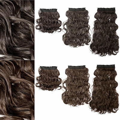 Meche a 5 clip Extension cheveux ondulé Rajout Perruque Hair long 43/60/68cm