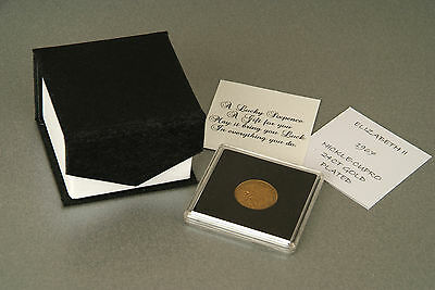 Lucky Sixpence Coin 24ct Gold Plated in Quadrum 1947-1967  in gift box with poem