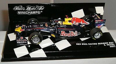 Minichamps 410110001 Red Bull Racing Renault Rb7 F1 Car 2011 S Vettel 1:43 New