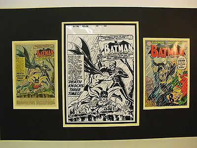 Production Art Splash Page GIL KANE  BATMAN #180 w/published cover and  page