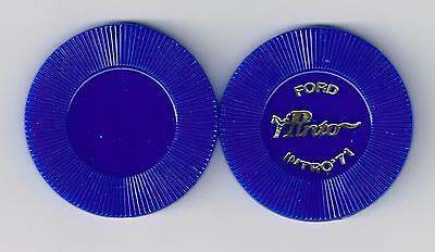 1971 FORD COMPANY PINTO CAR PROMOTIONAL HORSE LOGO BLUE CHIP 1971!