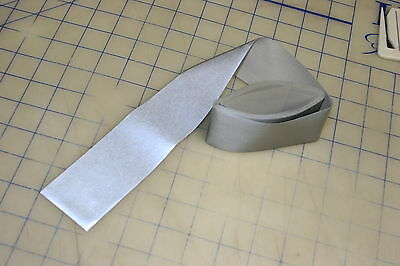 """3m sew on reflective tape 2"""" wide 9 ft long silver safety clothing hat cap"""