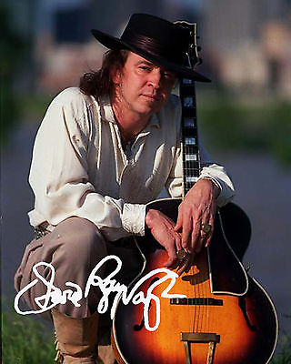 STEVIE RAY VAUGHAN 8X10 PHOTO SIGNED RP AUTOGRAPH REPRINT PHOTO