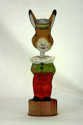 Antique German Bobble Head Easter Rabbit Candy Container  ca1915