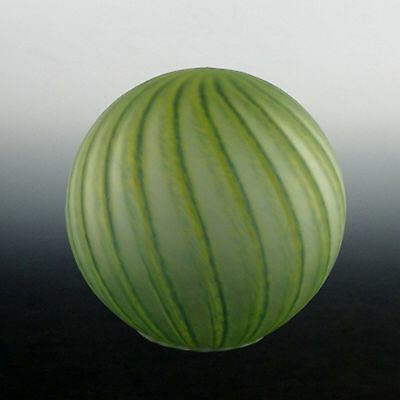 Art Deco Lady Lamp Globe in Striking Water Melon Pattern :Original