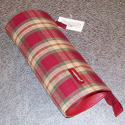 Longaberger Orchard Park Plaid MAKEUP / PENCIL Case ~ Brand New with Tag! ~