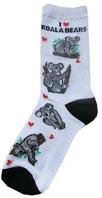 I Love Koala Bear (41305) Women Socks Cotton New Gift Fun Unique Fashion