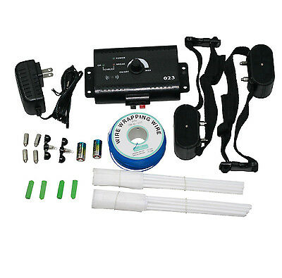 Electric Dog Fence System, Underground Waterproof Kit 2 Shock Collars for 2 Pets