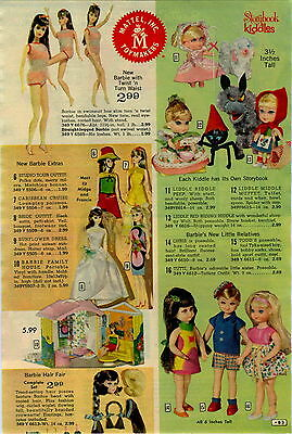 1967 ADVERTISEMENT Mattel Barbie Doll Twist N Turn Waist Family House Hair Fair