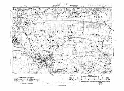 Old Map of Menston (E), Guiseley, Yorkshire in 1909- Repro 187 SW