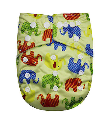 See Diapers One Size Baby Cloth Diaper With 2 Inserts - Microfleece Inner - New