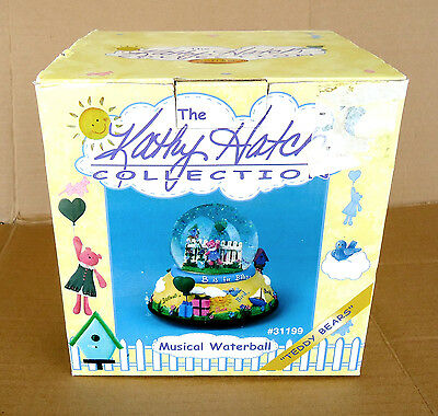 The Kathy Hatch Collection Musical Waterball Teddy Bears Snow Globe