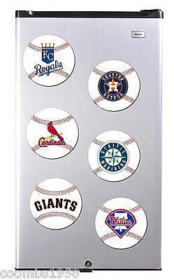 American Baseball Teams High Gloss Round Fridge Magnet