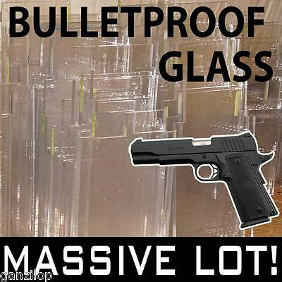 ╬ BULLETPROOF GLASS ╬ FEW PIECES REMAINING ╬ ballistic acrylic resistant ╬