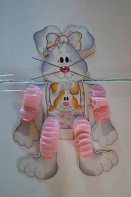 Vintage Easter Rabbit Bunny Die Cut Honeycomb Wall Decoration lot of 2