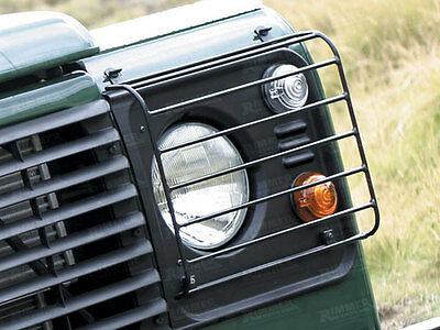 Land Rover Defender 90 110 130 All Model Front Lamp Guards Pair Wolf Style
