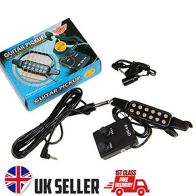 Classical or Acoustic Guitar Pickup & Microphone Volume Control