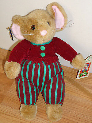 "Applause CHRISTMAS MOUSE Cedric 11""  plush w/tag"