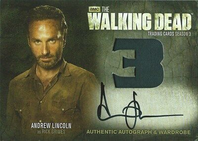 (HCW) 2014 AMC The Walking Dead ANDREW LINCOLN Autograph Wardrobe as Rick Grimes