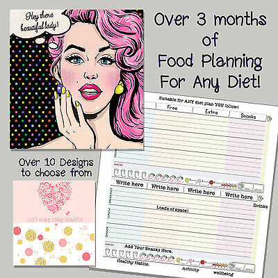 New Diet Diary/tracker/notebook/weight Loss/planner/slimming World Compatible