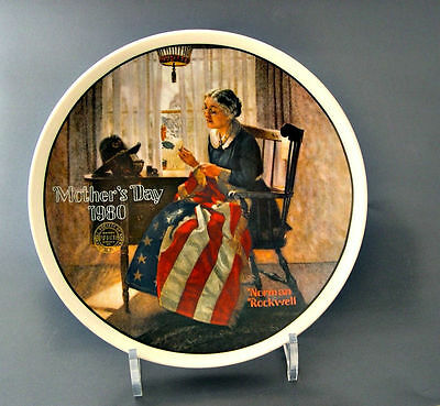 Rockwell Society Plate Mothers Day 1980 A Mothers Pride