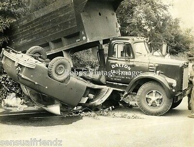 Vintage Old Car Truck Wreck West Virginia Flipped Rollover 1930s photo