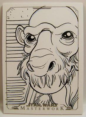 SKETCH ART CARD BY KONE 1/1 1OF1 TOPPS STAR WARS MASTERWORK 2015 RARE