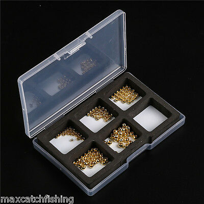 25 Count -Tungsten Nymph Fly Tying Head Ball Beads -- Gold (2.0 - 3.8mm) 5 Sizes