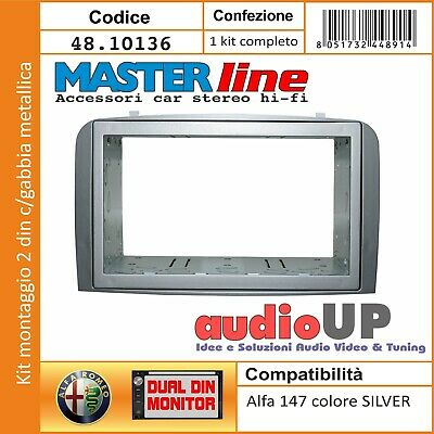 Mascherina  Autoradio 2 Din Adattatore Alfa 147 Due Din Kit Full Installation
