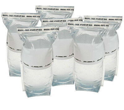 6 Whirl-Pak 1 Liter Stand-Up Water Collection Bags for Survival Kits