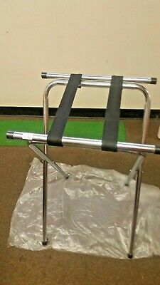 "30"" Chrome Tubular Restaurant Folding Metal Tray Stand ( One Each ) Heavy Duty"