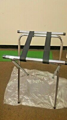 "Tray Stand 32"" Chrome Tubular Restaurant Folding Metal ( One Each ) Heavy Duty"
