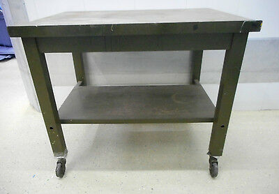 FACTORY ROLLING WORK TABLE - HEAVY DUTY Steel Industrial Steampunk IN CHICAGO