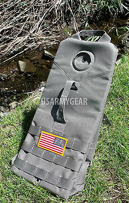 US Army Military 3 L MOLLE Sage Foliage Green Gray Hydration Carrier Pack Bag GI