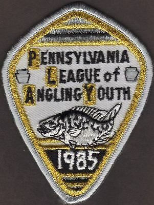 Pa Fish Commission NEW Uncirculated 1985 Black Crappie Fish PLAY Series Patch