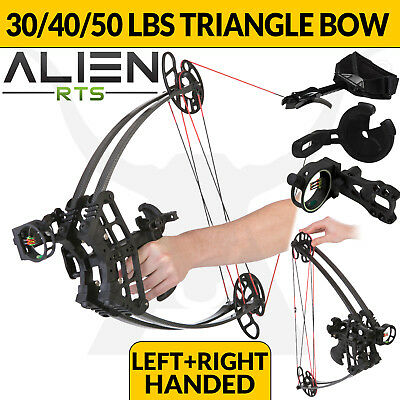 RTS ALIEN 30-50lbs Triangle Compound Bow Apex Hunting Left Right Handed Archery
