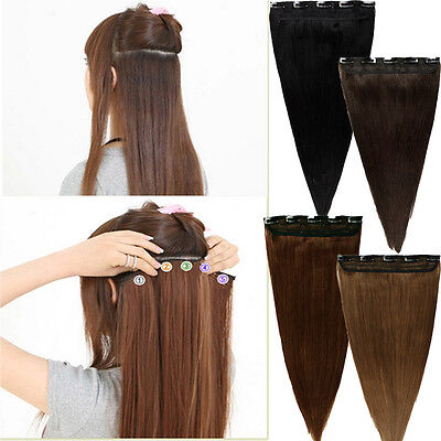"""100% Real Clip In Remy Human Hair Extensions 3/4Full Head One Piece 18 20 22""""U13"""