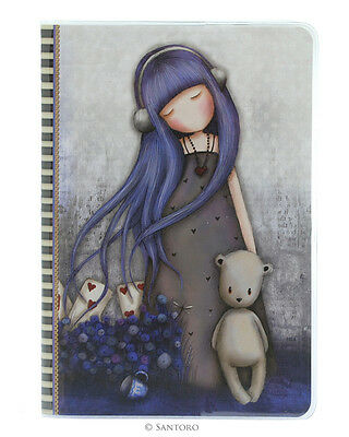 Gorjuss by Santoro London A5 'Stitched' PVC Covered Notebook - Dear Alice