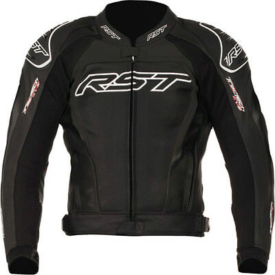 RST Tractech Evo 2 Leather Sports Motorcycle Jacket - Black
