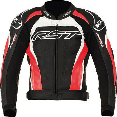 RST Tractech Evo 2 Leather Sports Motorcycle Jacket - Red