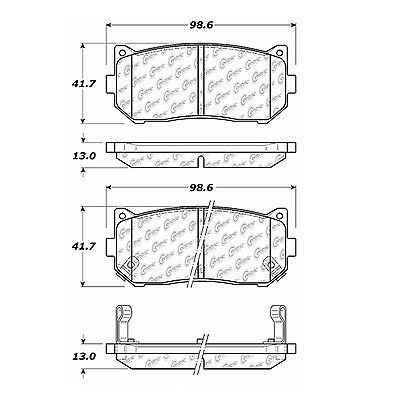Disc Brake Pad-Posi-Quiet Extended Wear w/Shims and Hrdwr-P Rear fits Spectra