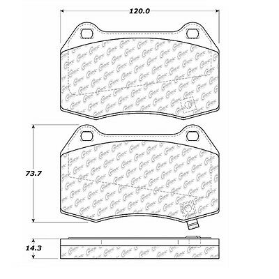 Disc Brake Pad-Posi-Quiet Extended Wear Pads w/Shims & Hardware Centric