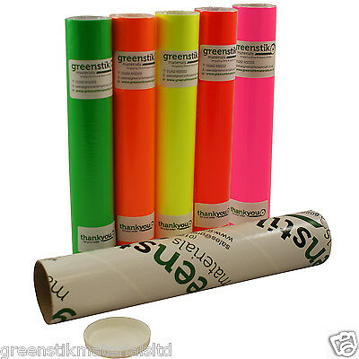 Neon Fluorescent Self Adhesive Vinyl 305mm rolls suitable for Silhouette Cameo