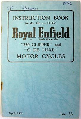 ROYAL ENFIELD 350 Clipper - Motorcycle Owners Handbook - Apr 1959 -#520/2½M.456