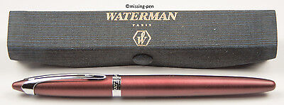Waterman - Ballpoint Pen Ici et La in PLUM & SILVER with nice case