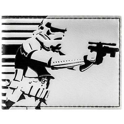 New Official Star Wars Storm Trooper White Id & Card Bi-Fold Wallet