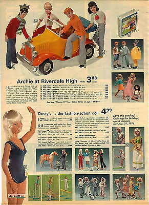 1975 ADVERTISEMENT Doll Figures Archie Veronica Jughead Betty Jalopy Riverdale
