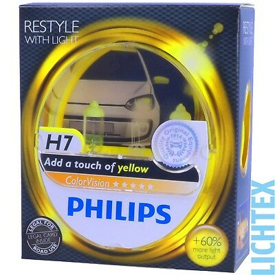 H7 PHILIPS ColorVision GELB - Styling Scheinwerfer Lampe - DUO-Pack-Box NEU